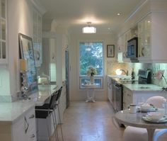 Transitional Galley Style White kitchen, cabinets, $20,000 or less, Toronto