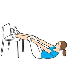 Want a flat belly? Try this Fly-up move done with your every day chair! #fitness #workout | Health.com