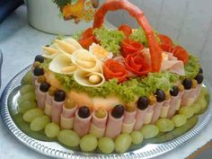 salad, cake, idea, appet, fruit platters, meat, food art, picnic baskets, parti