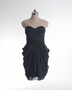 A-line empire waist chiffon dress for bridesmaid