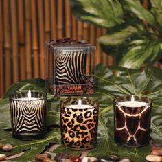 Animal Print Romantic Candles