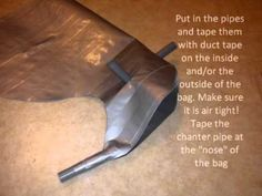 How to make bagpipes out of Duct tape : DIY Step by step instructions