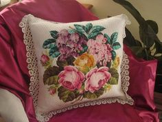 Buquê com rosas - almofada
