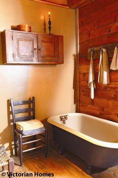 Bath cabin, prim bathroom, tub, bathroom idea, expos wood, primit bathroom, primitive decor, wooden walls