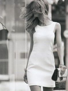 Very classy Little/White/Dress.