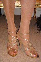 Feet cross dresser feet