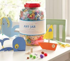 art jar - packed with colorful craft supplies  http://rstyle.me/n/dk2v3pdpe