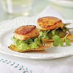 Scallop-and-Avocado Tostadas | MyRecipes.com