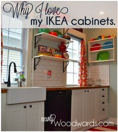 Why I love my IKEA kitchen cabinets - full review of Ikea cabinets and the whole design process by the NewlyWoodwards