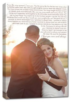 Gorgeous canvas artwork - include your portrait and the lyrics to your first dance. Or even your #wedding vows!