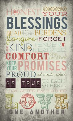 Be Honest Count Your Blessings {free printable}