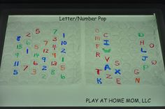 Play At Home Mom LLC    Letter/Number Pop with bubble wrap at home, light tabl, letternumb pop, bubbles, number, bubble wrap, kids, homes, letters