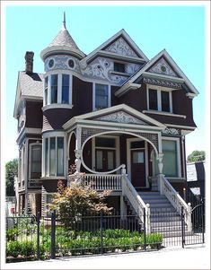 Love this porch detail on this Victorian