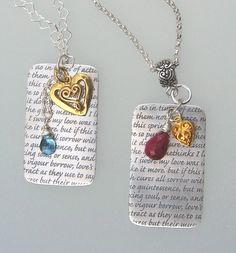 Valentine themed jewelry