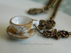 Tea Cup Necklace - Steampunk Alice in Wonderland - Mad Hatter's Tea Party