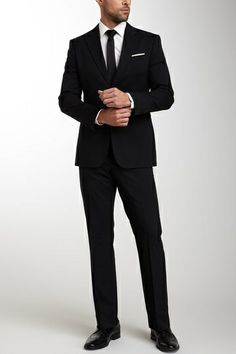 Men's Tailored Black Suit.