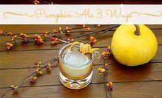 halloween party cocktails pumpkin ale 3 ways