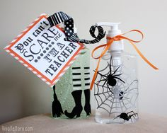 You can't scare me. I'm a teacher! Halloween Gift made with Cricut Explore