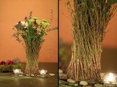 DIY stick vases