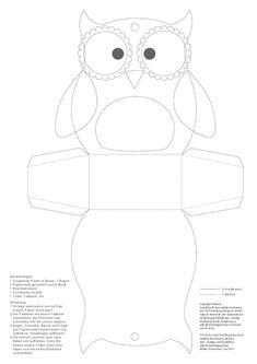 Owl treat box template - bjl