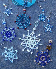 Beaded Snowflakes  inspiration