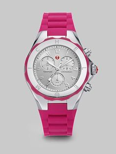 Michele Watches - Tahitian Jelly Bean Chronograph Watch/Pink #SaksLLTrip (day)