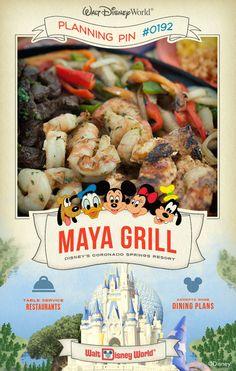 Walt Disney World Planning Pins: Maya Grill