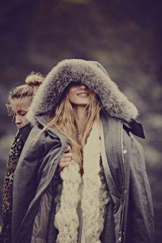 Winter parka style