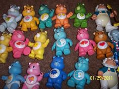 Care Bear figures. Had them all!