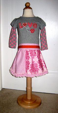 The Cottage Home: Día Tutorial vestido de las niñas de San Valentín