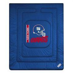Sports Coverage 01JRCOM1GIAQUEN Locker Room New York Giants Queen Comforter in Bright Blue