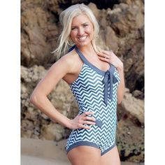 Modest Charcoal Chevron Retro suit. 65% off with code: BLACKFRIDAY65
