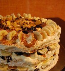 Choc Honeycomb, Banana & Caramel Pavlova Recipe