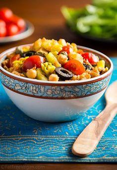 fatfreevegan | Tunisian-Inspired Chickpea and Potato Salad (spicy hot)