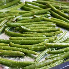 Roasted Parmesan Green Beans Recipe @Jackie Godbold Godbold Godbold Vaccarello veggie option?