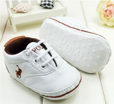 Material: PU Leather Colors: White, Brown  Soft prewalker sole. Head wide design, more comfortable to baby wear.  Size.  Outer Sole Size. Inner Size. Fit Months  1.   11cm/4.33in.     10.5cm/4.13in.   0-6 M  2.   12cm/4.72in.     11.5cm/4.53in.   6-12 M  3.   13cm/5.12in.  12.5cm/4.92i...