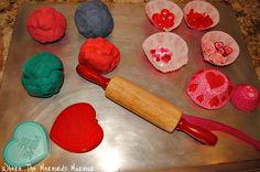 Valentines playdoh bake shop