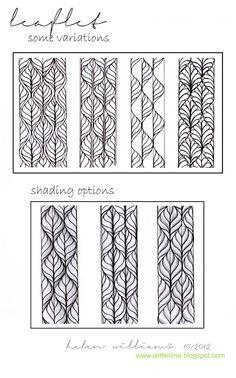 a little lime: Step-by-steps & patterns Leaflet variations