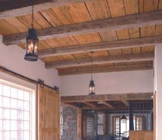 plank ceilings, make awesome doors