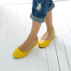 comfi cloth, fashion shoes, style, girl fashion, accessori, yellow shoe, fauxsnakeskin flat, ballet flats, yellow flat