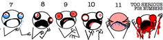 "the dreaded pain scale - ""10: I am actively being mauled by a bear"""