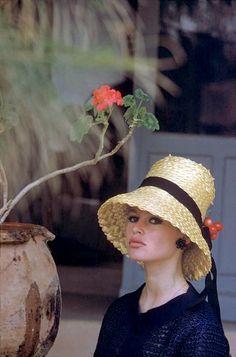 "Brigitte Bardot at her house ""La Madrague"", photo by Nicolas Tikhomiroff, St. Tropez, France, 1960"