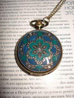 Necklace Pendant Bronze Antique Pocket Watch by Azuraccessories, $8.55