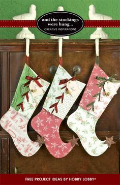 Create these wonderful Christmas projects with just a little inspiration and some favorite scrapbooking papers...