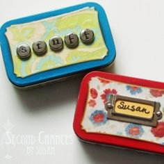 diy Make a handy emergency purse kit from an Altoid tin. Great stocking stuffer!!