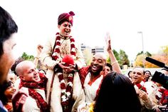 Indian groom during his Baraat