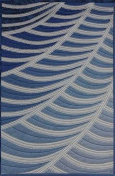 """""""Floating"""" quilt by Dianne Firth .... simply blue and liking it"""