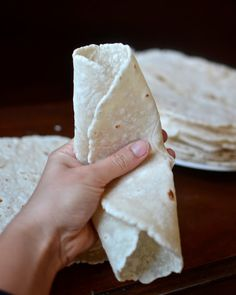 Gluten Free Flour Tortillas - roll and fold without cracking!