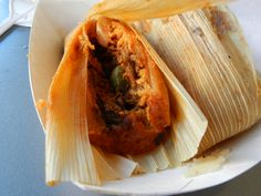 Santa Cruz (Red) Tamale from Tuscon Tamale Company - Mild Red Chile Beef in Red Chile Masa, traditional size... omg so good!