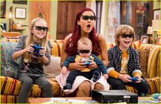 ariana grande jennette mccurdy sam cat pilot pics 05, Ariana Grande and Jennette McCurdy get a little dirt smudged on their faces in this new pic from Sam & Cat.    In the series premiere, total opposites Sam Puckett…